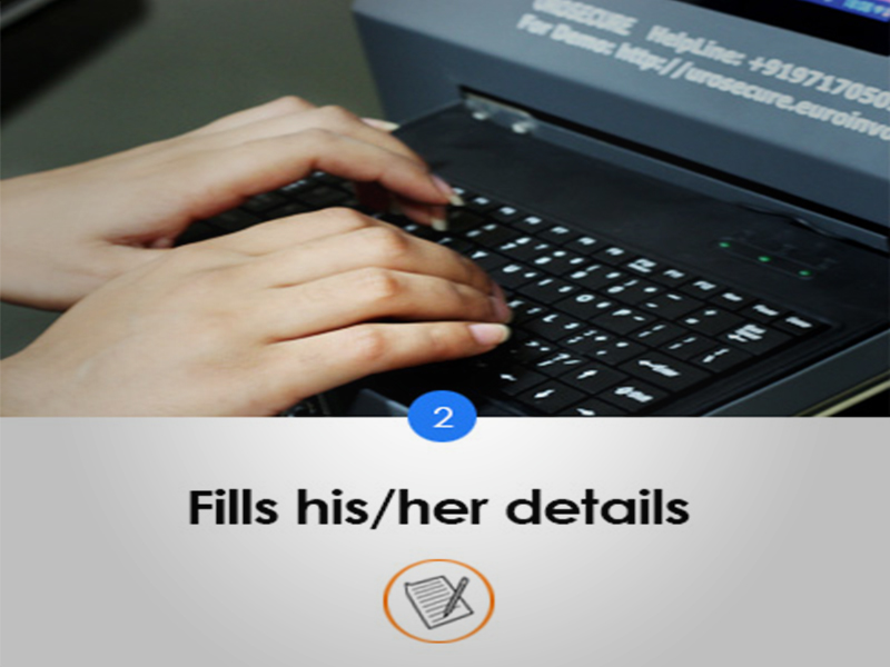 Fills his/her details