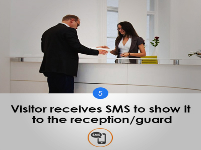 Visitor receives SMS